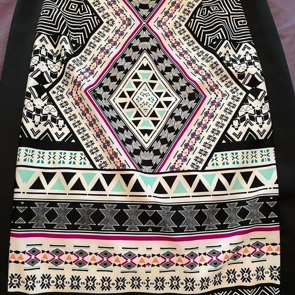 Antonio Melani Aztec printed skirt